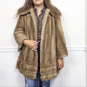 Vintage Tissavel Of France | Brown Faux Fur Coat